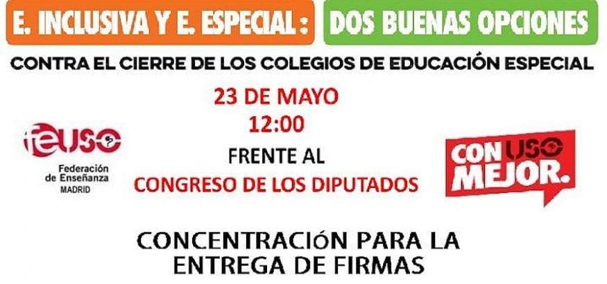FEUSO entregará mañana 300.000 firmas de apoyo a los centros de Educación Especial