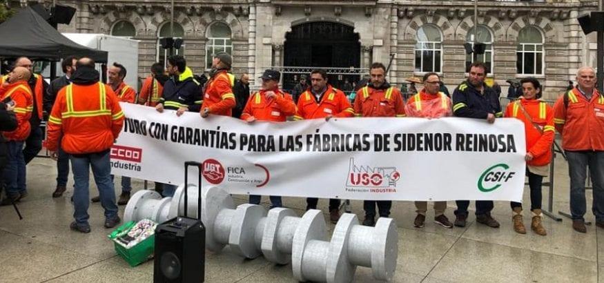 FI-USO reclama un futuro para Sidenor y Reinosa avalado por el Gobierno de Cantabria
