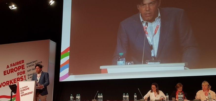 Joaquín Pérez defiende en Viena movilizaciones más ágiles y creativas contra una transición injusta