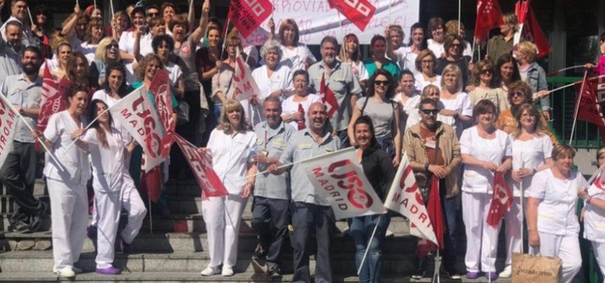Los trabajadores de limpieza del Hospital 12 de Octubre van a huelga desde el lunes
