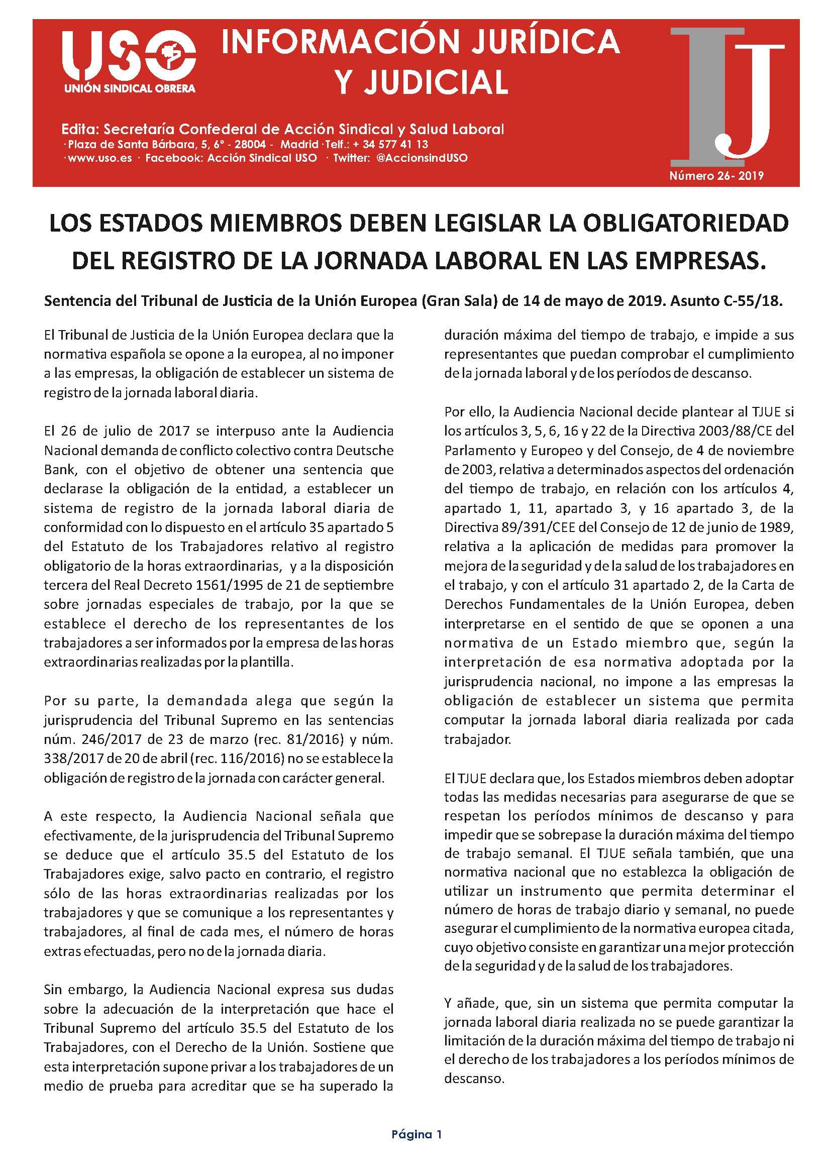 Información Jurídica y Judicial nº 26