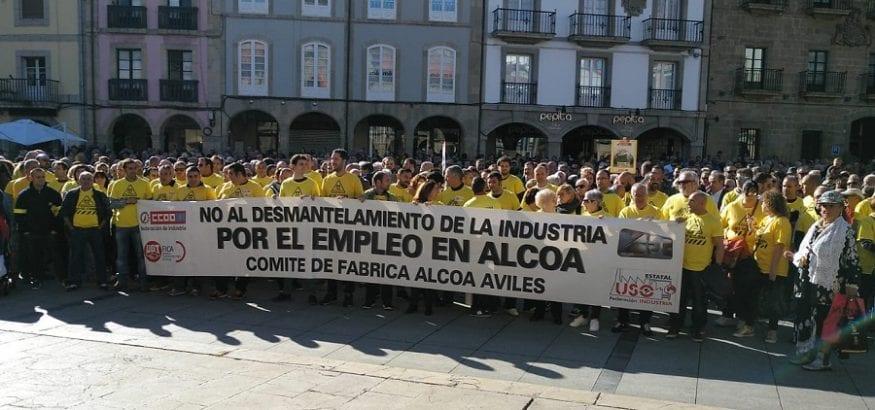 Los trabajadores de Alcoa marcharán a pie de Avilés a Madrid exigiendo una solución para las plantas
