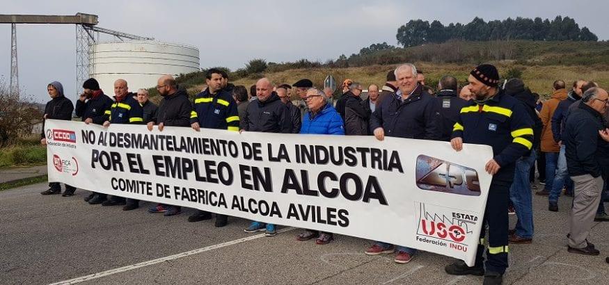 Alcoa cuenta ya con dos ofertas vinculantes para continuar la actividad más allá del 30 de junio