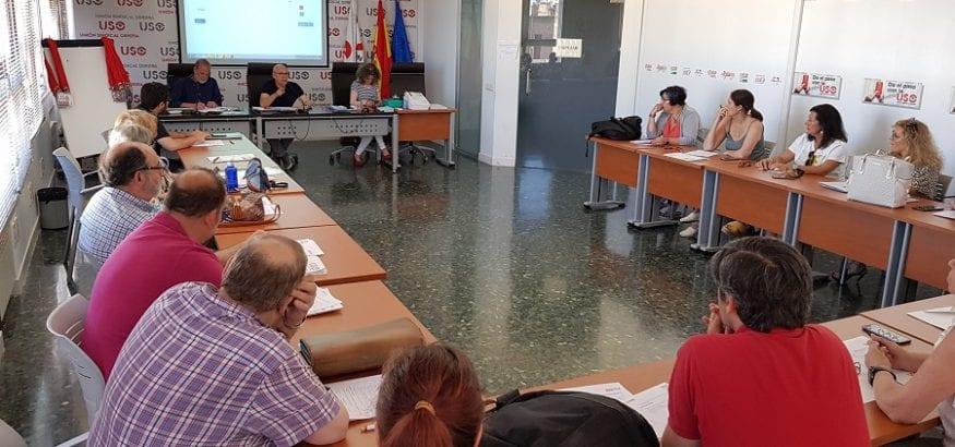 Últimos preparativos de FEP-USO para afrontar las elecciones de la AGE, con 240.000 votantes