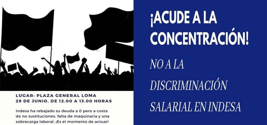 Los trabajadores de Indesa se concentran mañana contra la discriminación laboral