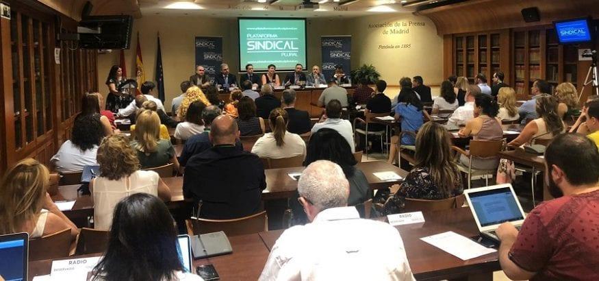 USO, Fetico, SATSE, ANPE, CCP, Gestha y CSL presentan la Plataforma Sindical Plural