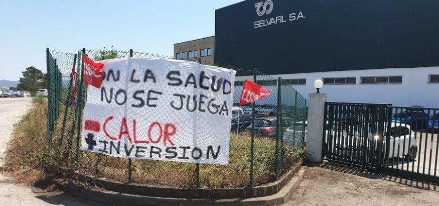 Los trabajadores de Selvafil en Girona, a la huelga en protesta por las altas temperaturas
