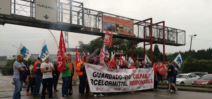 Los trabajadores de Guardado Vías, en huelga indefinida desde el pasado miércoles