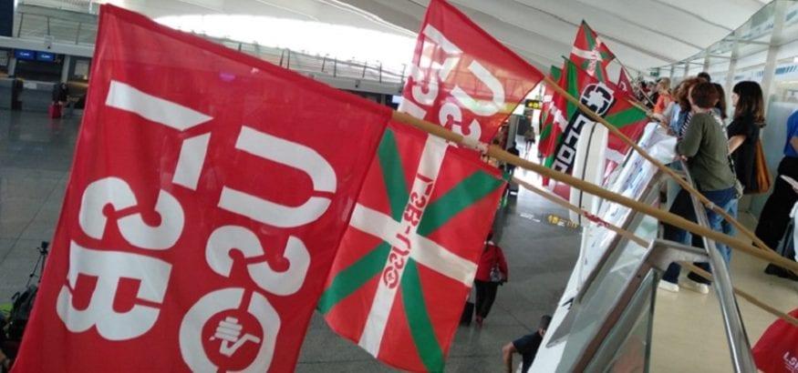 El comité de huelga impugnará servicios mínimos de la huelga de Aena en Bilbao, con 100% de seguimiento