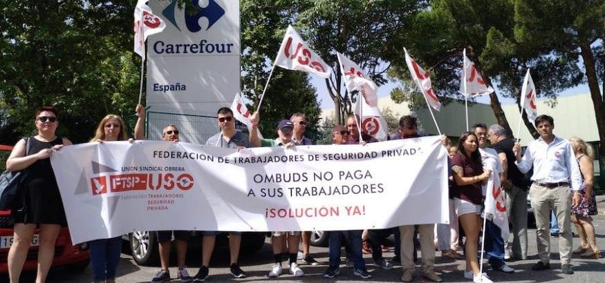 Carrefour confirma a USO que rescindirá los contratos con Ombuds Seguridad el 8 de agosto