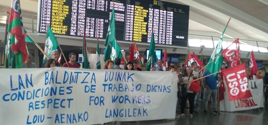 Esta semana comienza la negociación de trabajadores y aeropuerto de Bilbao para ampliar plantilla