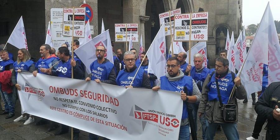 La FTSP-USO sale de nuevo a la calle para reclamar la rescisión del contrato de Correos con Ombuds