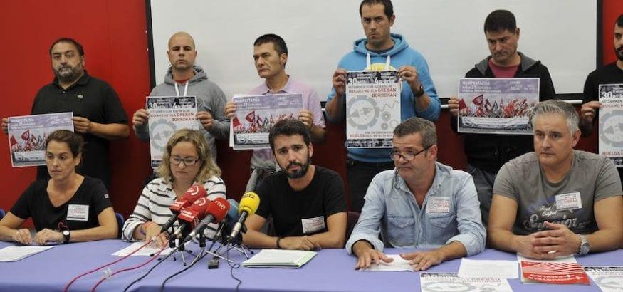 Cinco jornadas de huelga del Metal de Bizkaia al no haber avances en la negociación del convenio