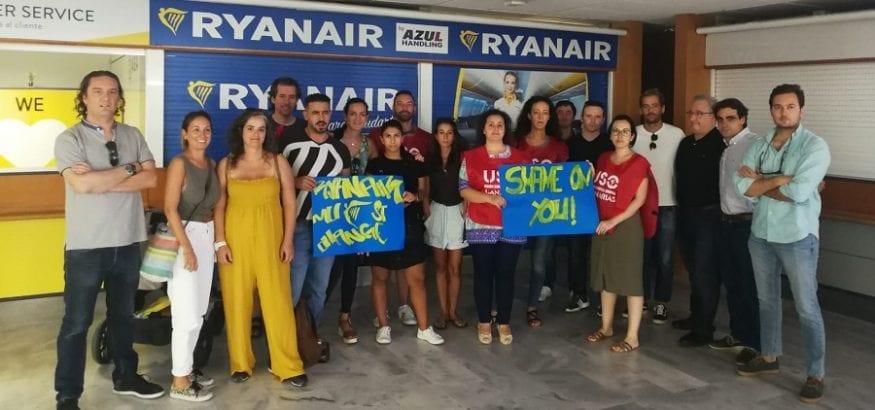 Las diez jornadas de huelga en Ryanair se traducen en el mes con más horas trabajadas