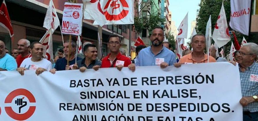 Multitudinaria manifestación en Las Palmas contra los despidos y sanciones en Kalise
