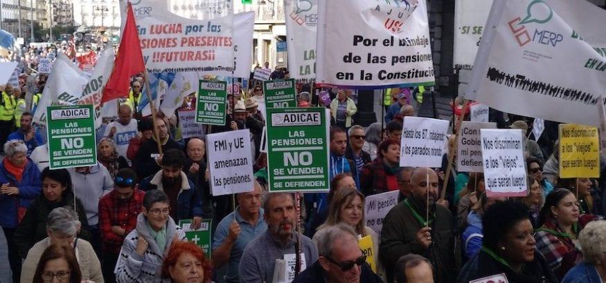 USO, en la gran manifestación de pensionistas en Madrid