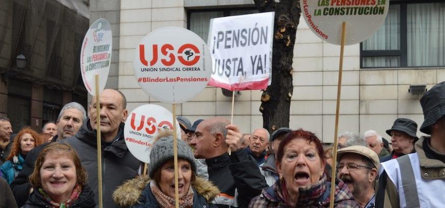 USO se suma a las movilizaciones del 16 de octubre en defensa del Sistema Público de Pensiones