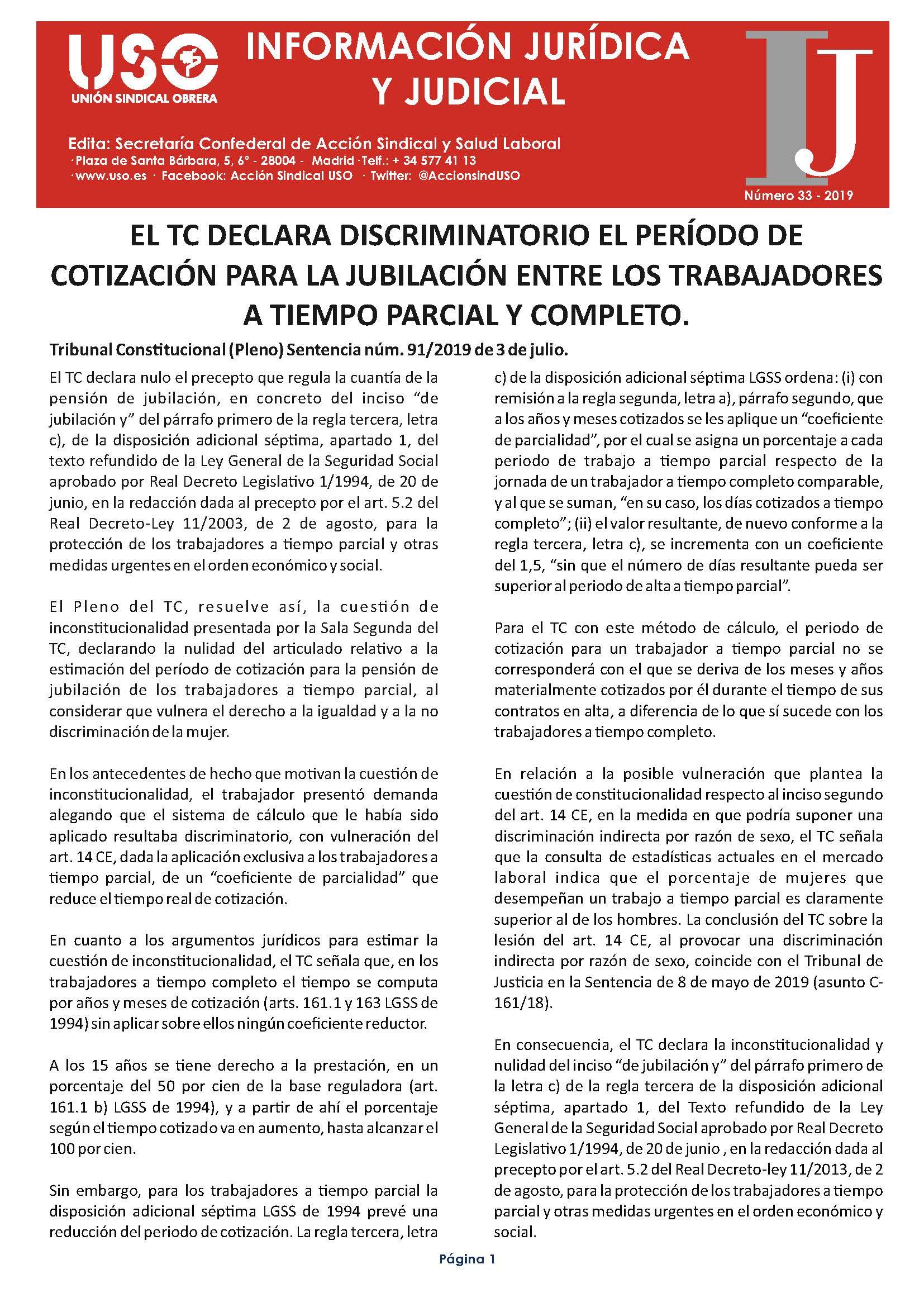 Información Jurídica y Judicial nº 33