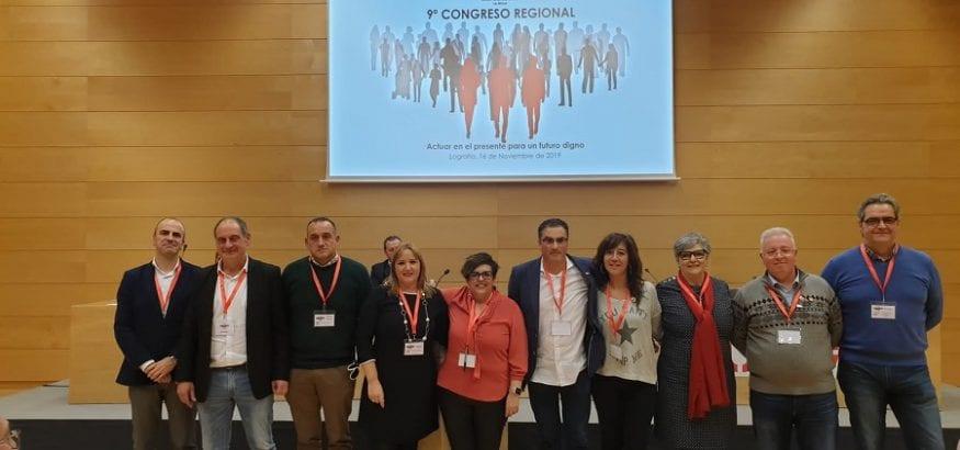 El Congreso de USO-La Rioja elige a Luis María Miguel nuevo secretario general y honra a Javier Martínez