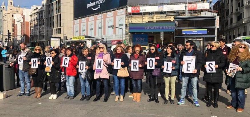 USO se concentra en Callao para exigir el fin de la violencia contra las mujeres