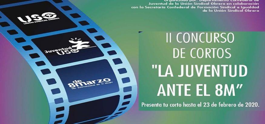 """Juventud USO lanza el II Concurso de cortos """"La juventud ante el 8M"""""""