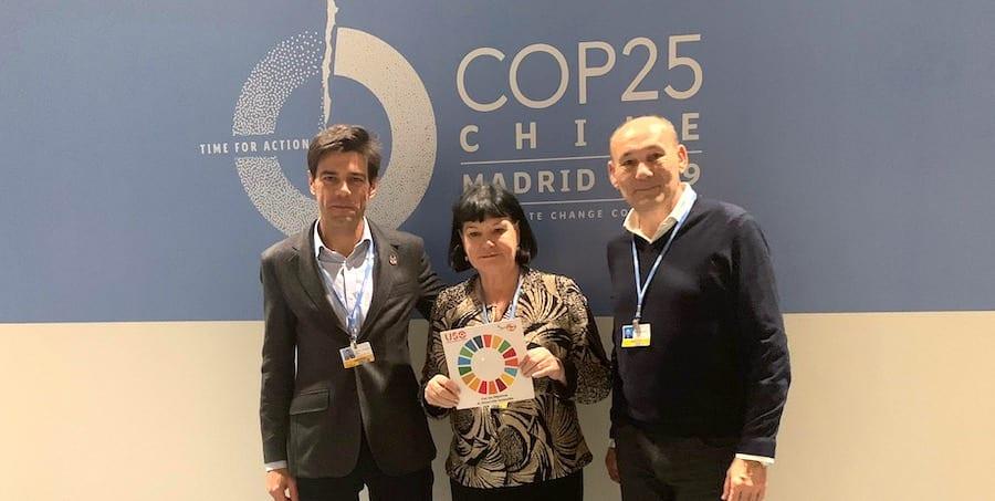 Encuentro de los dirigentes de la CSI y USO en la COP25