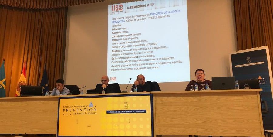 USO celebra una jornada sobre evaluación de riesgos laborales en Asturias