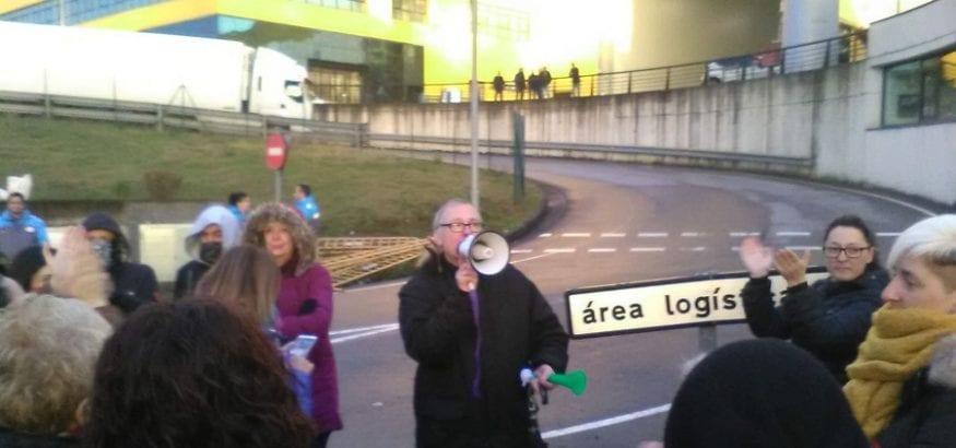 Alto seguimiento de la primera jornada de huelga de supermercados en Asturias