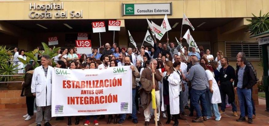 USO-Andalucía reclama 104 puestos de trabajo indefinidos en la Agencia Sanitaria Costa del Sol