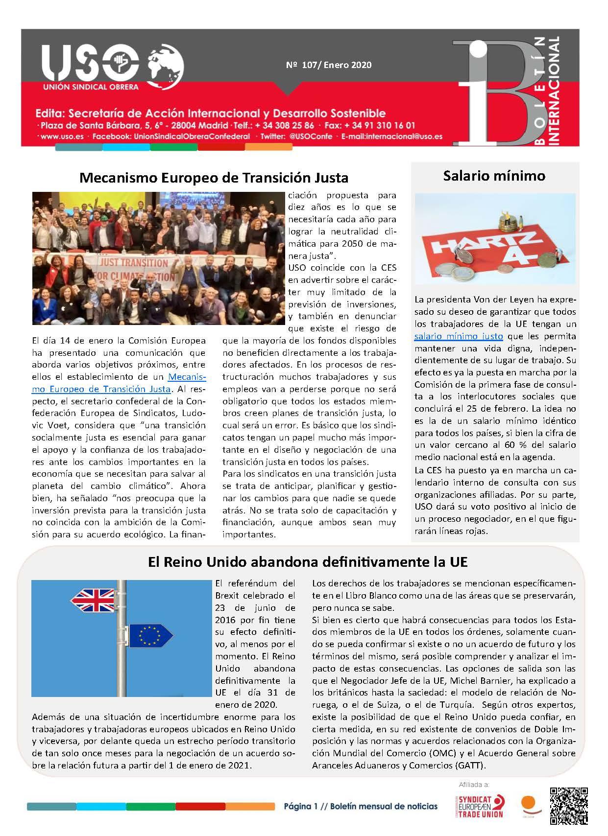Boletín Internacional Nº 107