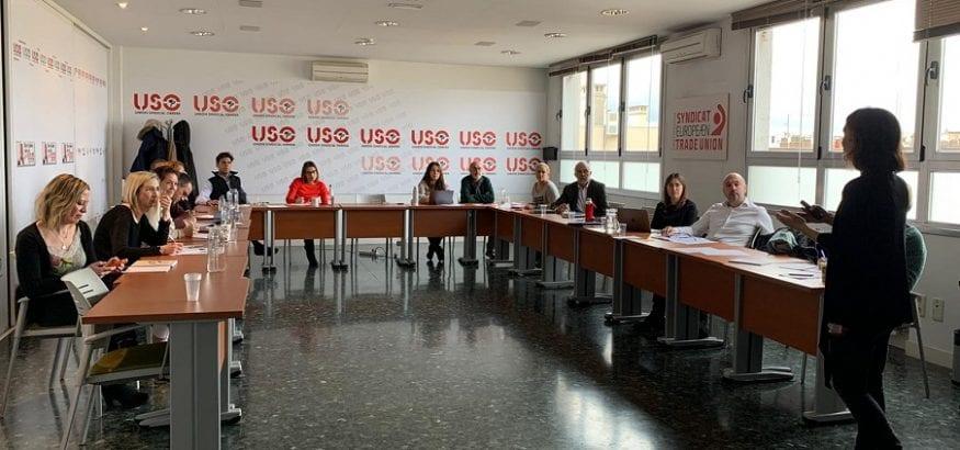 Los dirigentes de la USO se forman en técnicas de hablar en público