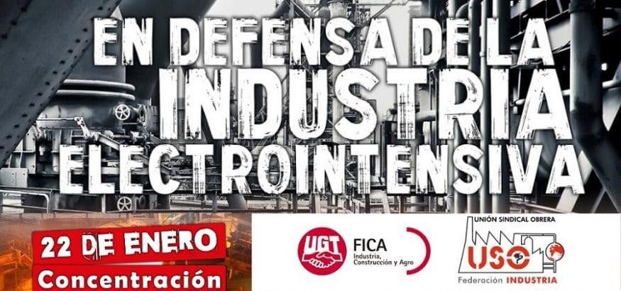 Mañana, #22Ene, todos frente al Congreso por el futuro del empleo en las electrointensivas