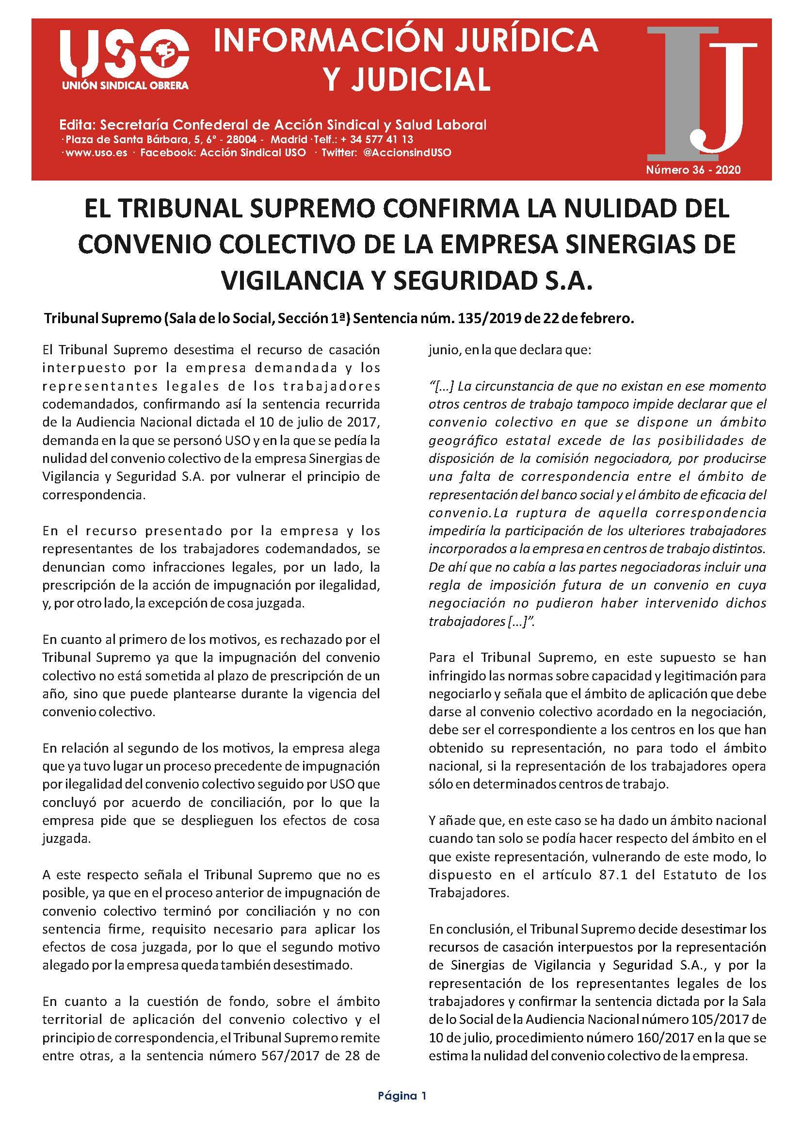 Información Jurídica y Judicial nº 36