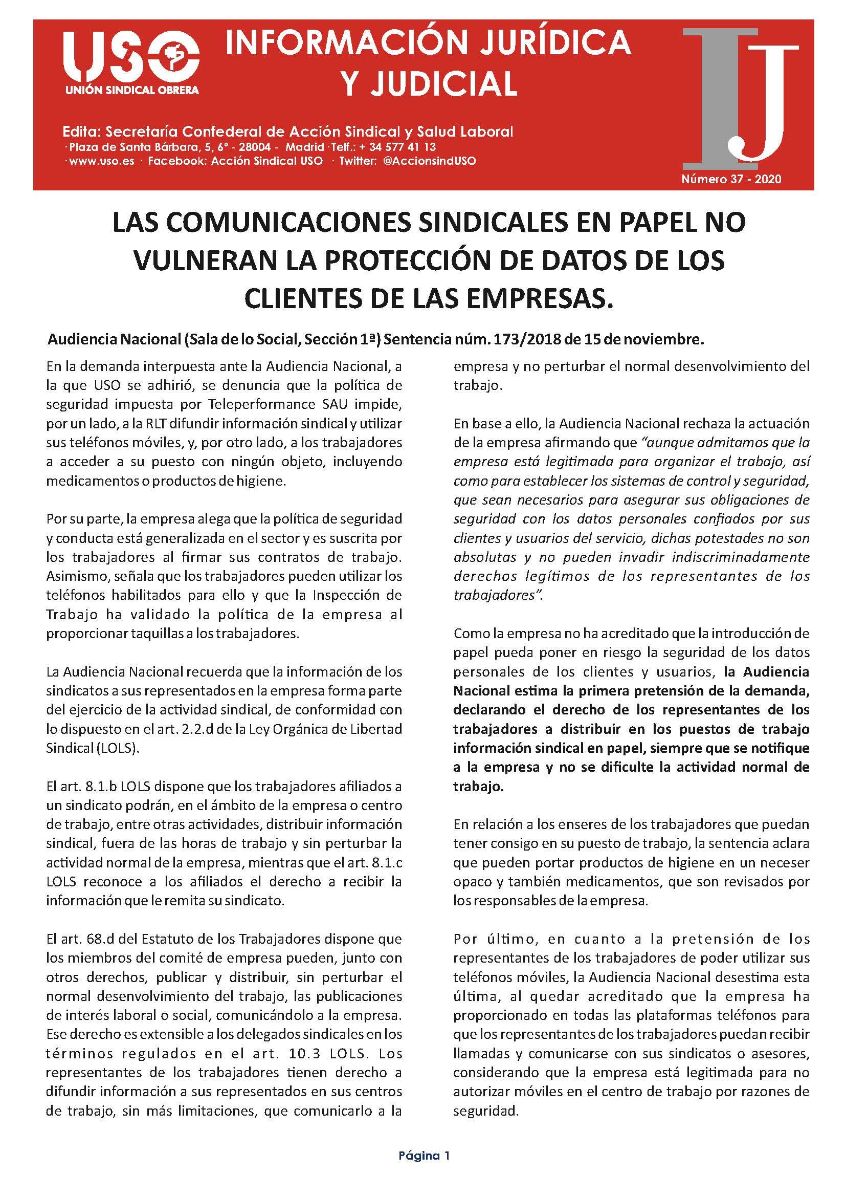 Información Jurídica y Judicial nº 37