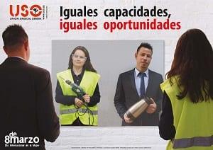 Campaña USO 8M Iguales capacidades, iguales oportunidades
