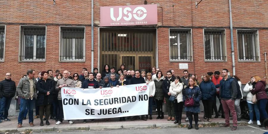 USO-La Rioja recuerda en un emotivo acto a los dos trabajadores fallecidos en accidente laboral