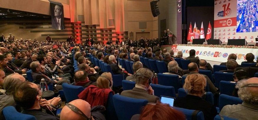 Congreso de DISK de Turquía: batalla permanente por la libertad sindical
