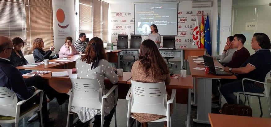 Responsables de Comunicación se forman en la sede confederal de USO en técnicas audiovisuales