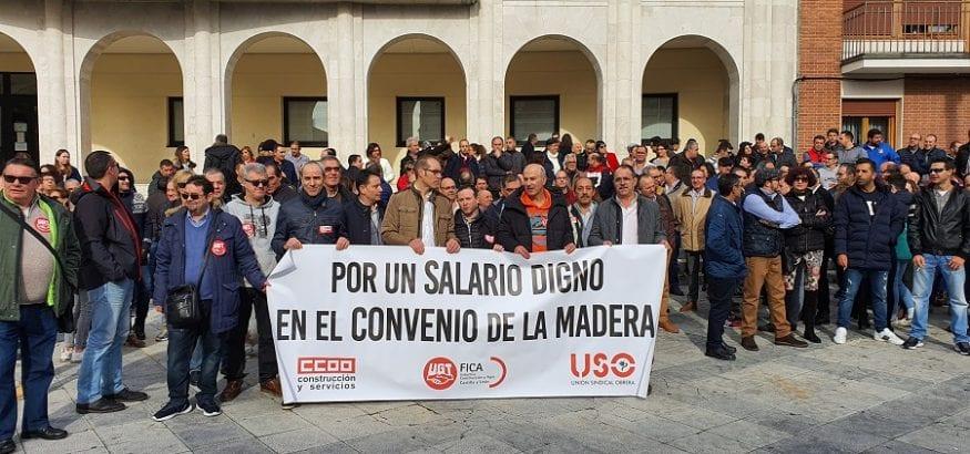 Acuerdo de subida salarial del 1,35% en el convenio de la Madera de Valladolid