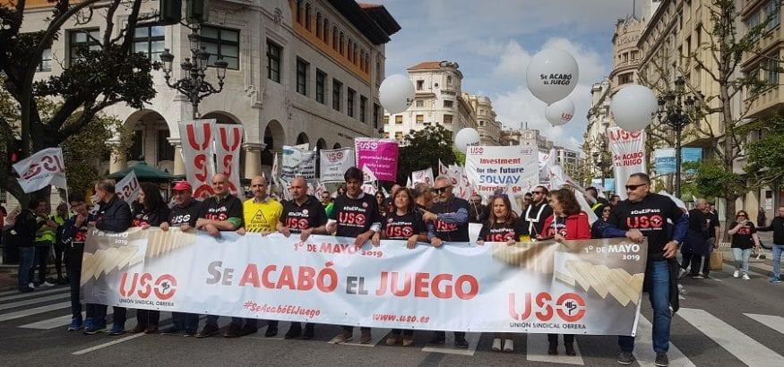 USO anula el Acto Confederal del 1º de Mayo de 2020 en Burgos, que lo acogerá en 2021