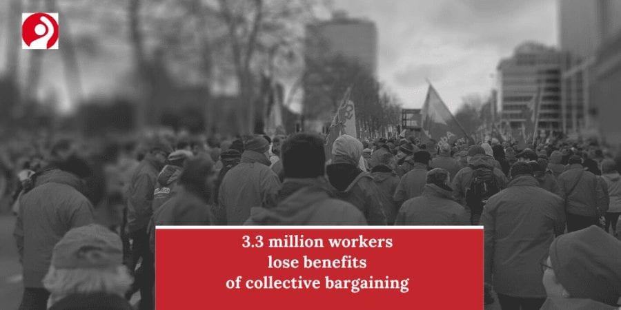 Caen en más de tres millones los trabajadores con convenio en Europa
