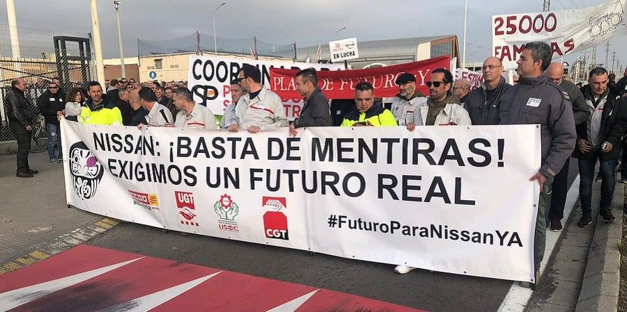 25.000 familias temen por su trabajo en Nissan Barcelona