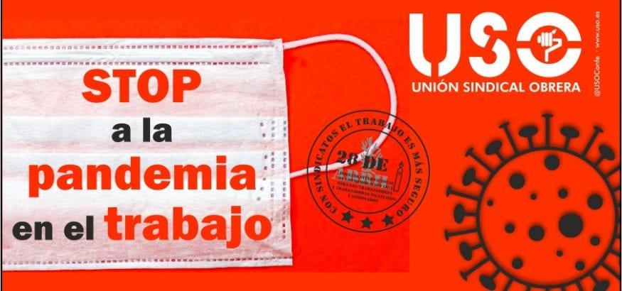 """USO lanza la campaña """"STOP a la pandemia en el trabajo"""""""
