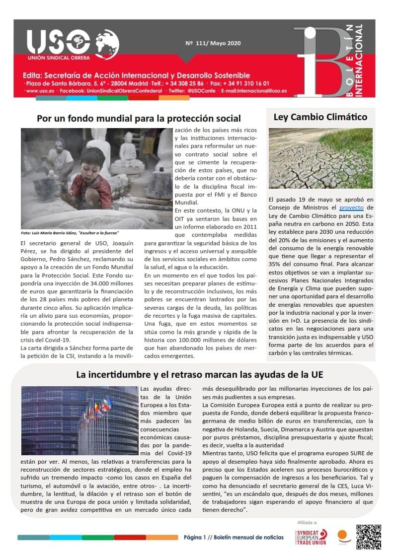 Boletín Internacional Nº 111