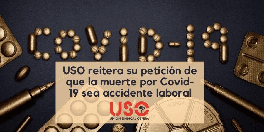 USO reitera su petición de que la muerte por Covid-19 sea considerada accidente laboral