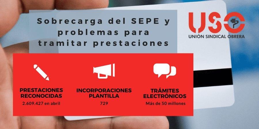 USO pide un mayor esfuerzo para reforzar plantilla del SEPE y que las prestaciones lleguen a tiempo