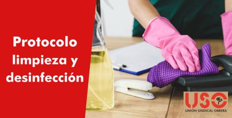 ¿Qué protocolo de limpieza debe realizarse en el centro de trabajo?