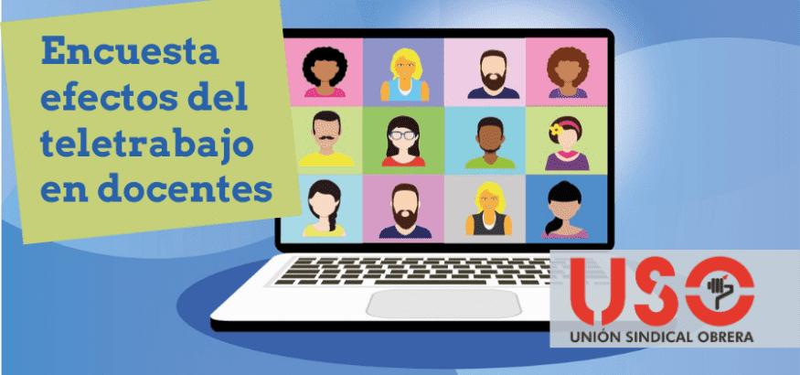 FEUSO analiza los datos de su encuesta sobre los efectos del teletrabajo de los docentes