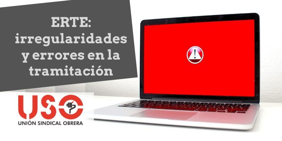 USO traslada a Trabajo irregularidades en la prestación por ERTE