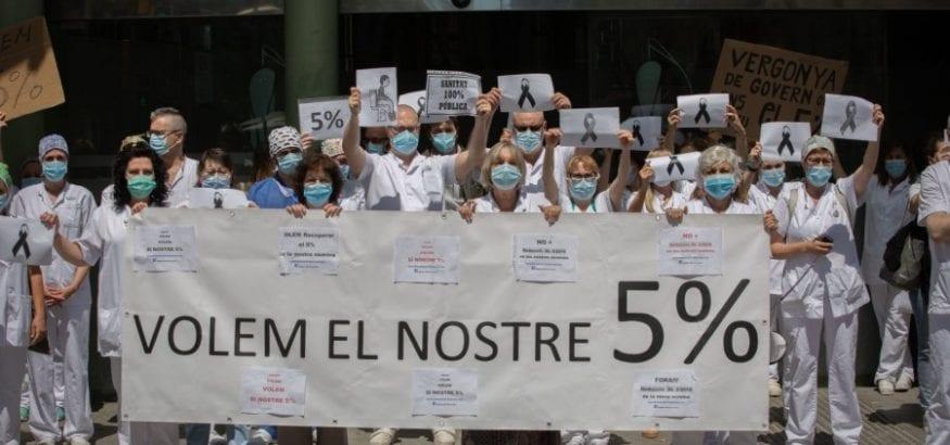 USOC convoca huelga general en la sanidad de Cataluña